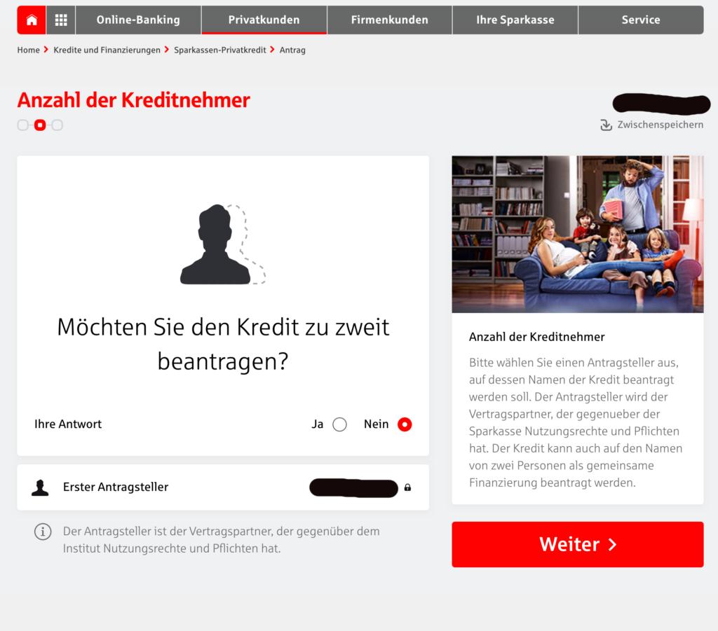 Sparkasse Kredit per Klick Screenshot Webseite Bild 4