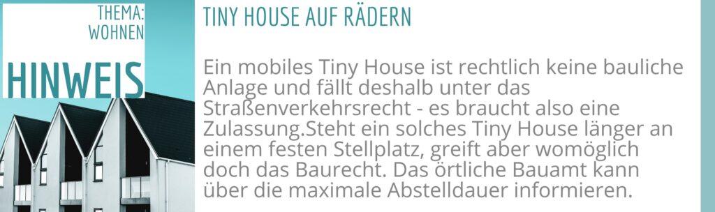 Tiny House auf Rädern