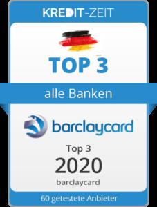 TOP 3 aller Banken. Barclaycard